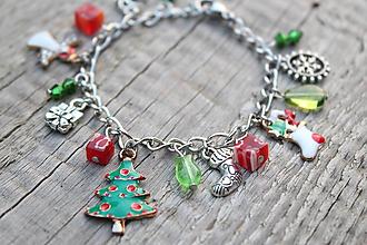 Náramky - náramok s príveskami Vianoce 2 - 10937270_