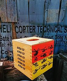 """Krabičky - Box na vreckovky """"Helicopter"""" - 10938173_"""