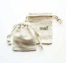 Obalový materiál - Textilné vrecko, bavlnené, prírodné, (9,5x8 cm) - 10936996_