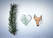 Odznaky/Brošne - Líška v lese - 10938640_