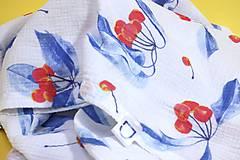 Textil - FRUITS gázovinová prikrývka Čerešne - 10938627_