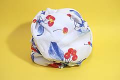 Textil - FRUITS gázovinová prikrývka Čerešne - 10938628_