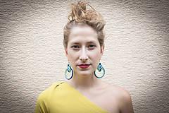 Náušnice - Limetka - Ručne šité šujtášové náušnice - Soutache earrings - 10936455_