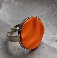 Prstene - prstienok vlnky oranž - 10937256_