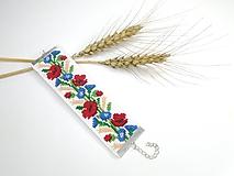 Vyšívaný náramok (Letné kvety)