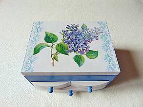 Krabičky - Šperkovnica so zrkadlom Voňavý orgován - 10937730_