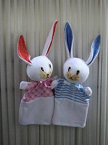 Hračky - Maňuška. Mojkací zajačik pre chlapcov a pre dievčatká. - 10938165_