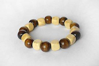 Šperky - Pánsky náramok z drevených koralok - 10935798_