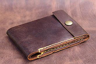 Peňaženky - Limitovaná edice panské peněženky-žluté obšití - 10938110_