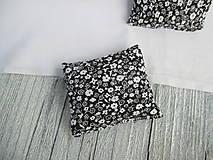 Úžitkový textil - Sada mini vankúšikov pre Barbie 2 ks (čierno - biela) - 10937059_