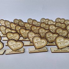 Darčeky pre svadobčanov - Drevená magnetka + menovka 2v1 (Maľované magnetky&menovky/18 kusov) - 10936034_