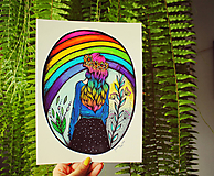 Kresby - Kráľovná dúhy - originál - 10936422_