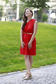 Šaty - Šaty EDEN na dojčenie červené - 10937810_