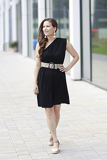Šaty - Šaty EDEN na dojčenie čierne - 10937839_