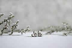 Náušnice - Srdce Tulipán - 10937742_