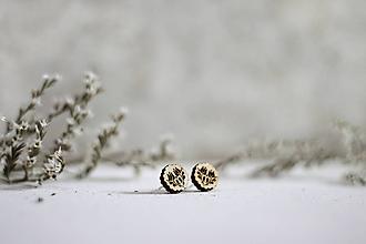 Náušnice - Drevené náušnice Krúžok Tulipán - 10937725_