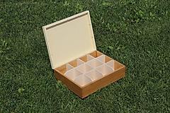 Krabičky - čajová krabica 12 priečinková - 10937102_