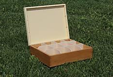 Krabičky - čajová krabica 12 priečinková - 10937103_