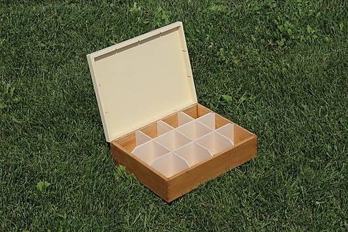 čajová krabica 12 priečinková