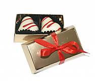 Darčeky pre svadobčanov - Mini bonboniérka s pralinkami (Zlatá) - 10936252_