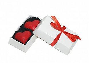 Darčeky pre svadobčanov - Mini bonboniérka s pralinkami (Strieborná) - 10936251_
