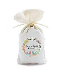 Darčeky pre svadobčanov - Levanduľové vrecúška, vzor 05 (10 ks) - 10937163_