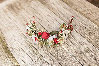 """Ozdoby do vlasov - Bohatá kvetinová aplikácia """"ráno, čo vonia po láske"""" - 10935693_"""