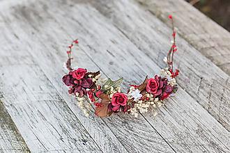 """Ozdoby do vlasov - Kvetinová aplikácia """"jeseň už v diaľke cítiť"""" - 10935723_"""