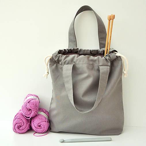 Taška šedá s ružovou ~ tvoritaška + nákupná