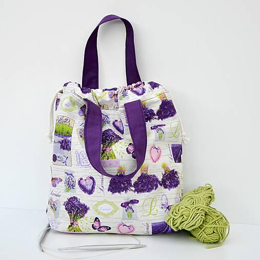 Levanduľová taška ~ tvoritaška + nákupná