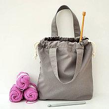 Iné tašky - Taška šedá s ružovou ~ tvoritaška + nákupná - 10938257_