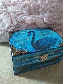 Krabičky - Krabička modrá labuť - 10937335_