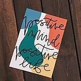 Grafika - Print / Positive mind positive life - 10937453_