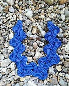 Náhrdelníky - Modrý náhrdelník - 10937195_