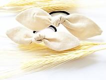 Ozdoby do vlasov - Gumička - vanilka - 10937300_