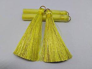 Polotovary - Veľké hodvábne strapčeky - pár (Žlté) - 10936346_