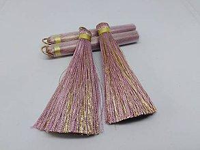 Polotovary - Veľké hodvábne strapčeky - pár- zľava (Staroružová) - 10936353_