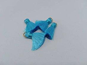 Polotovary - Mini hodvábne strapčeky - pár (Modrá) - 10936484_