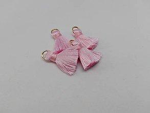 Polotovary - Mini hodvábne strapčeky - pár (Ružová) - 10936542_