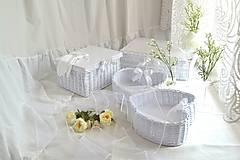Košíky - Svadobný set - aj jednotlivo - 10936552_