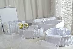 Košíky - Svadobný set - aj jednotlivo - 10936562_