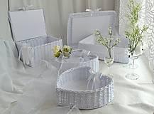 Košíky - Svadobný set - aj jednotlivo - 10936570_