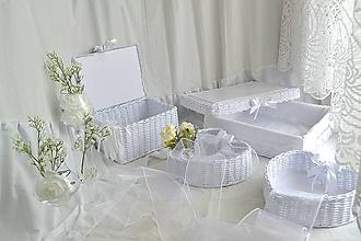 Košíky - Svadobný set - aj jednotlivo - 10936560_