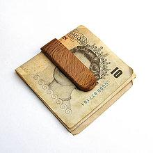 Tašky - Drevená spona na peniaze - olivovníková - 10937602_