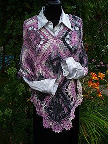 Iné oblečenie - Lady Pink Grey, pončo - 10938410_
