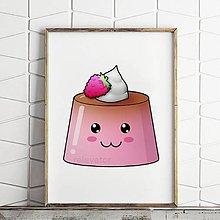 Obrázky - Digitálna grafika puding(želé) usmievavý (malinový) - 10935753_