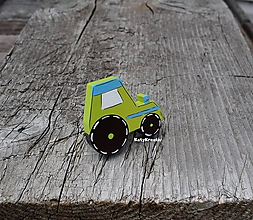 Detské doplnky - nábytkový úchyt traktor - 10940782_