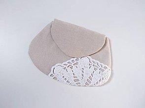 Taštičky - Kozmetická taštička s čipkou - 10940479_