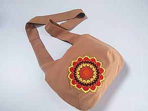 Kabelky - Hipsterská kabelka s mandalou - 10940502_