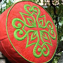Úžitkový textil - Sedák s ornamentem - 10939492_